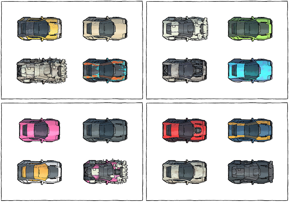 Cyberpunk Cars map assets - Variants