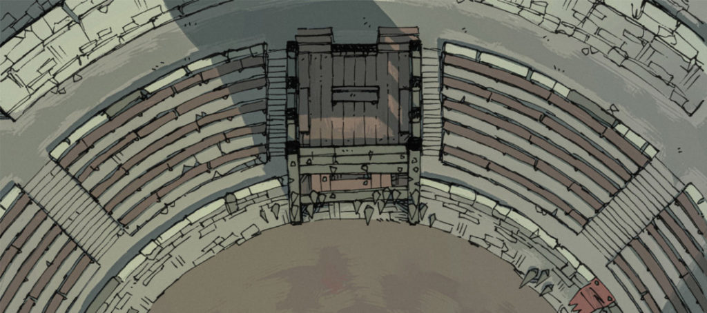 Greybanner Coliseum - Grimdark battle map banner