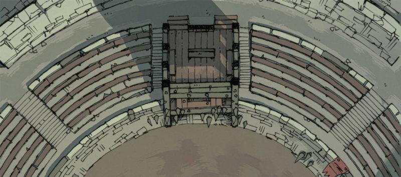 Greybanner Coliseum - Grimdark battle map banner