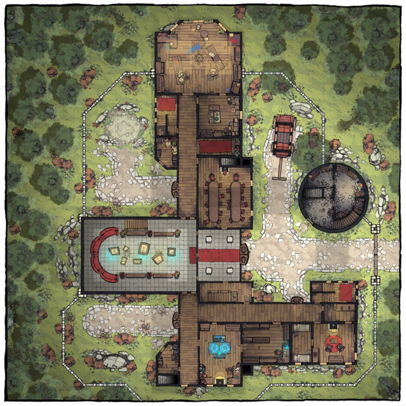Margaster Mansion battle map - Square preview