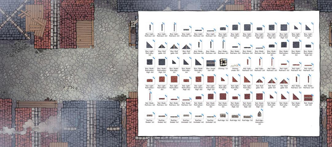 Modular Rooftops RPG map assets - Banner