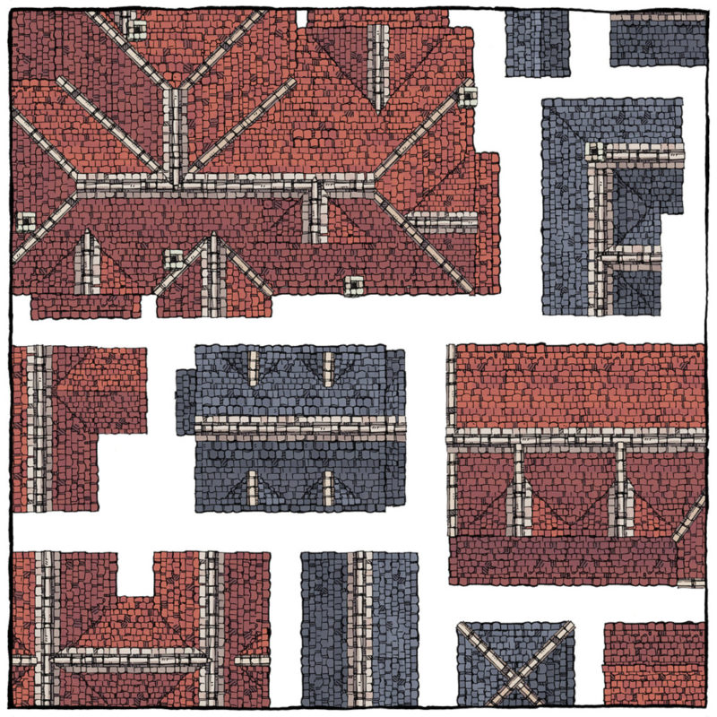 Modular Rooftops RPG map assets - Square Preview 2