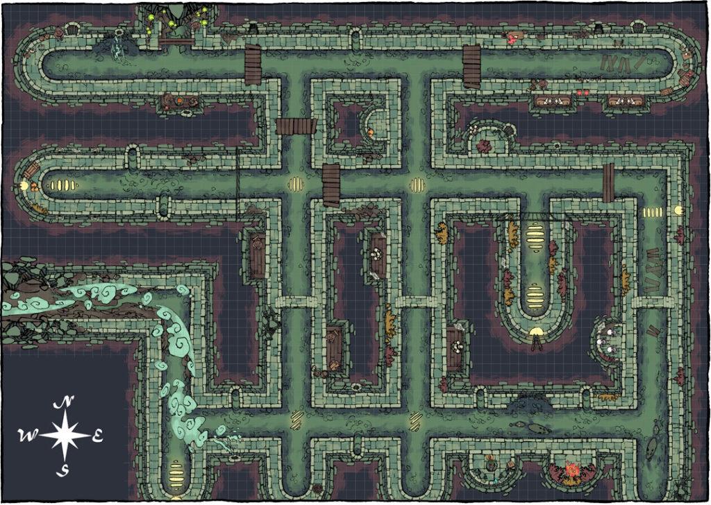 Sewer battle map by Asen Stoyanov - Map