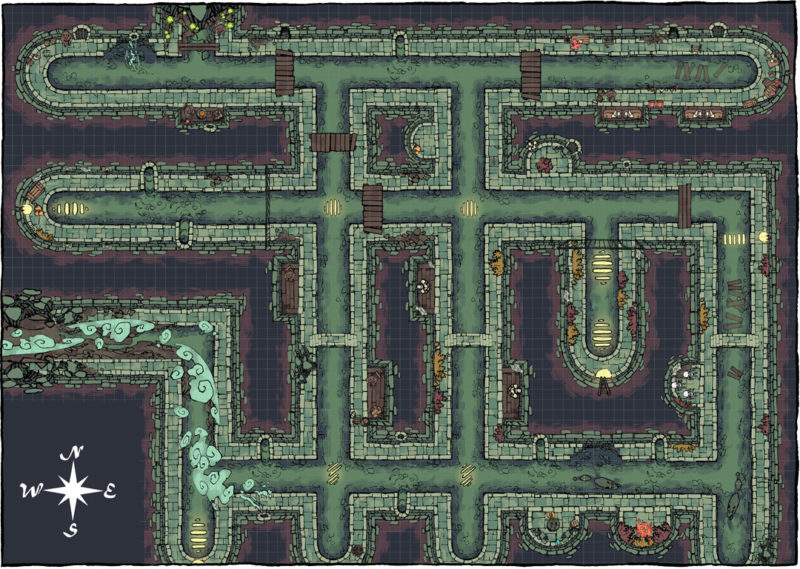 Sewer battle map by Asen Stoyanov - Map