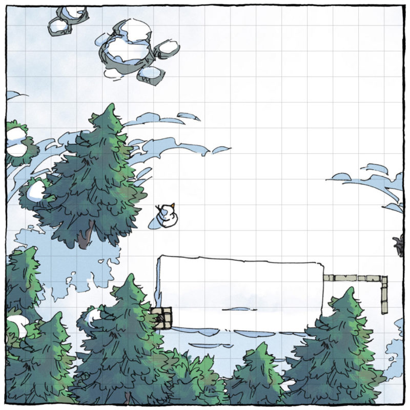 Snowy Winter battle maps - Square preview