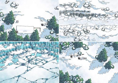 Snowy Winter battle maps - Variants