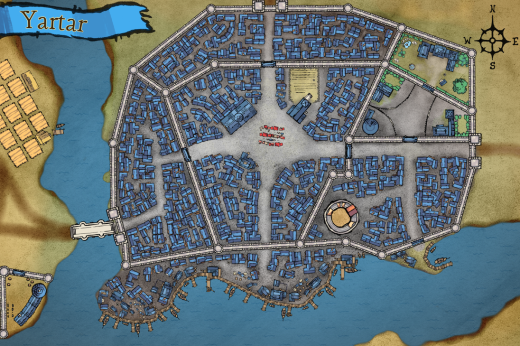 Yartar City Map