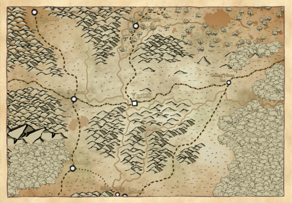 Yartar Region Map