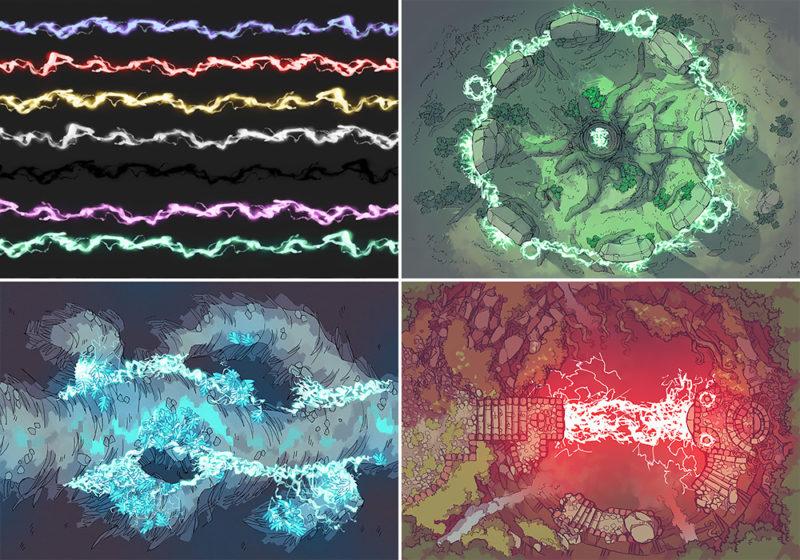 Lightning Spell Assets - Variants