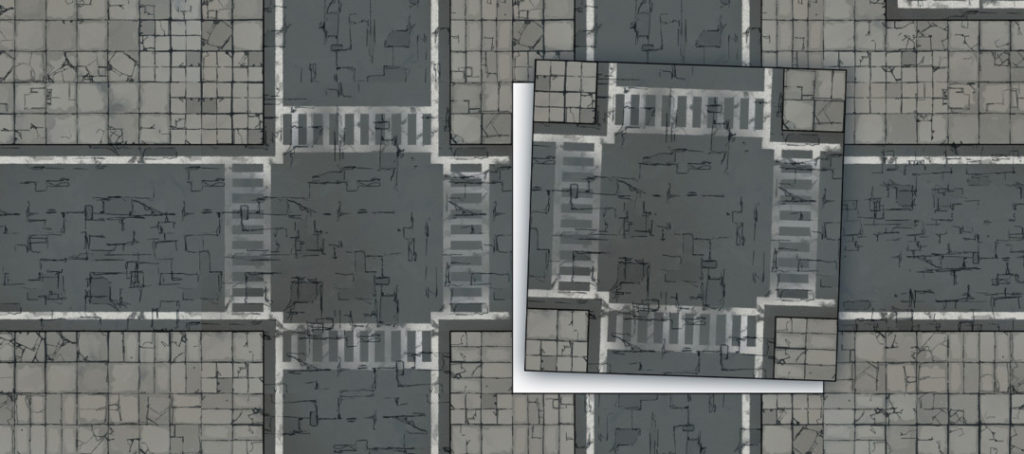 Modern Street map tiles - Banner