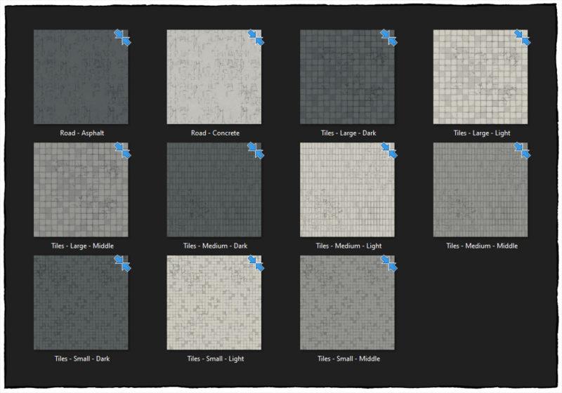 Modern Street map tiles - Bonus textures