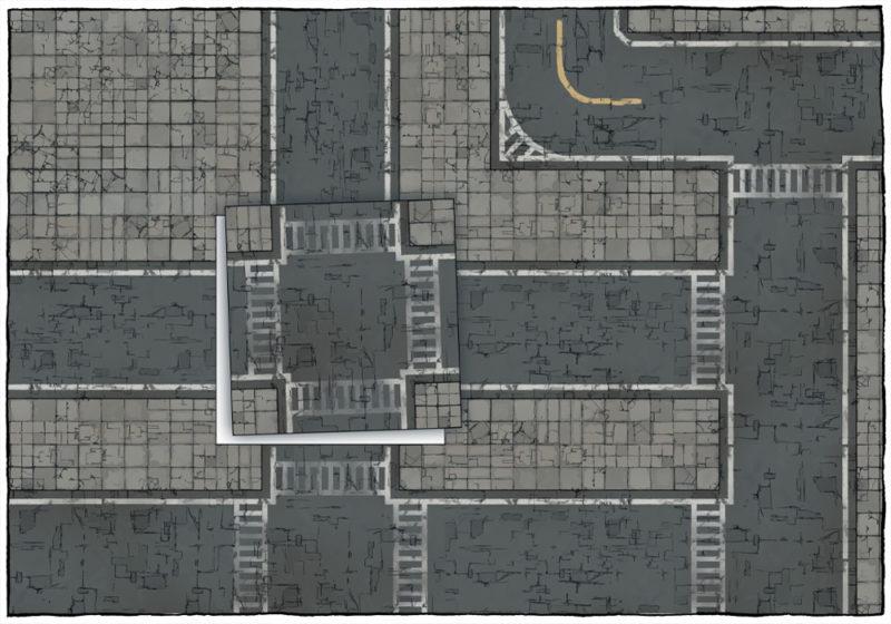 Modern Street map tiles - Example