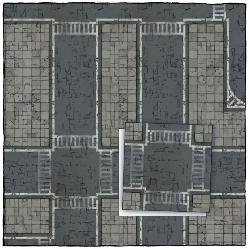 Modern Street map tiles - Square preview
