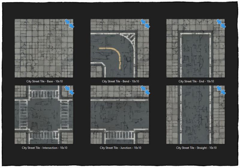Modern Street map tiles - Tile preview