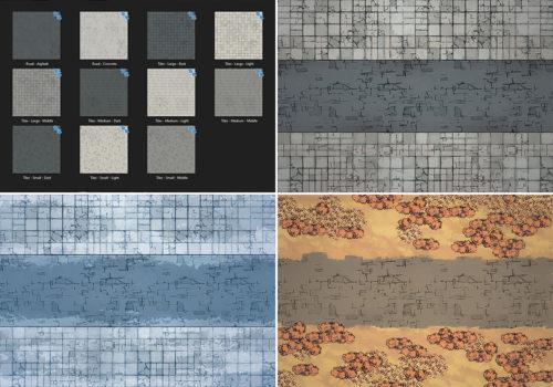 Modern Street map tiles - Variants