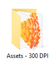 300 DPI assets folder example