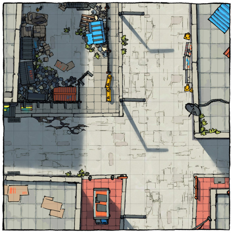 Cyberpunk Street Assets - Square preview