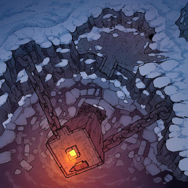 Frozen Forge battle map - Square Banner