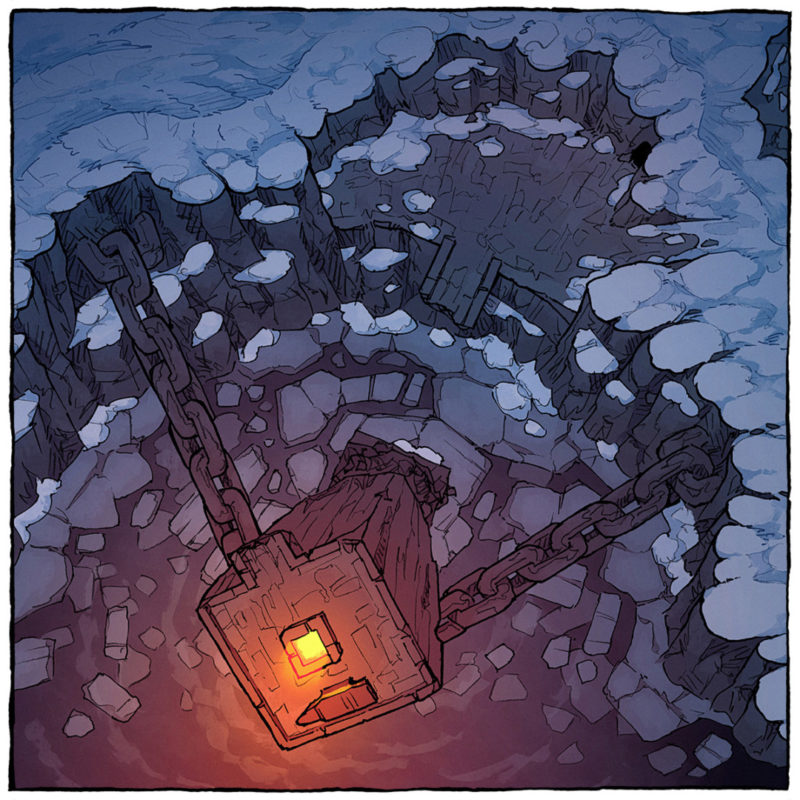 Frozen Forge battle map - Square preview