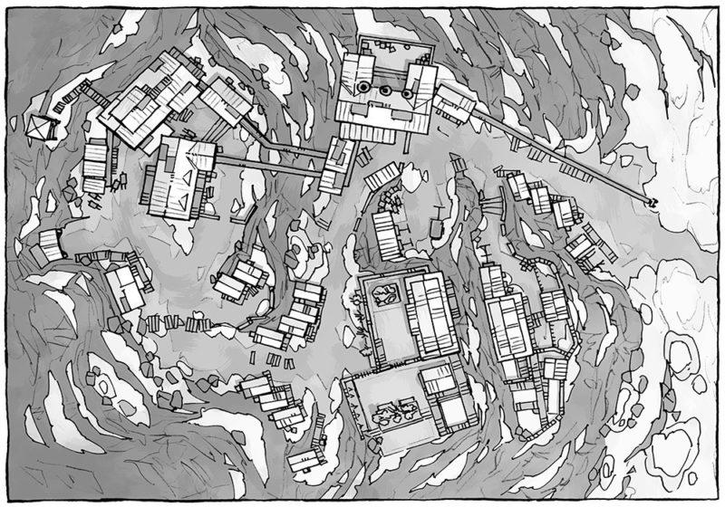Mining Town - Black & White - 16x22