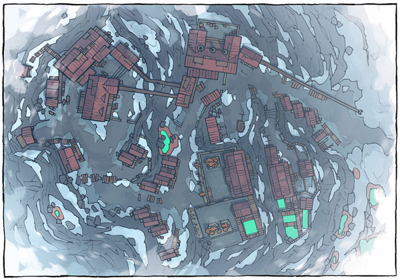 Mining Town - Blizzard - Day - 16x22
