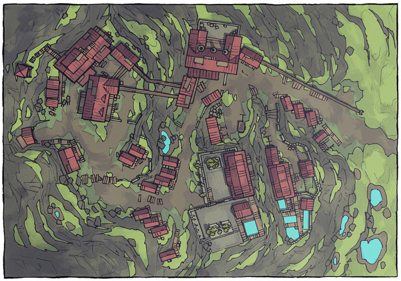Mining Town - Jungle - Day - 16x22