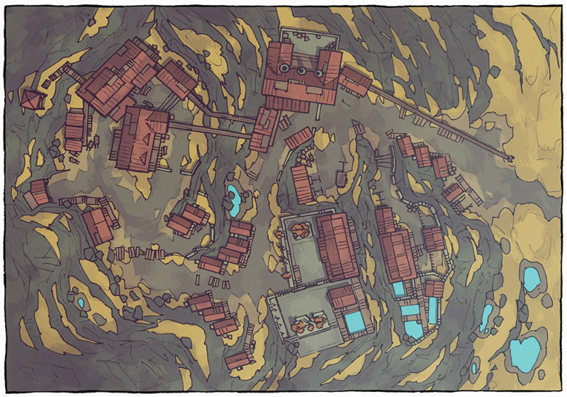 Mining Town - Tundra - Day - 16x22