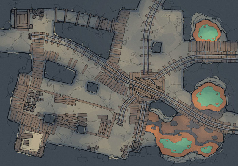 Thermal Mines Pt.1 - Thermal Pools - Dark - 22x16