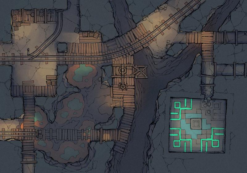 Thermal Mines Pt.2 - Thermal Pools - Dark - 22x16