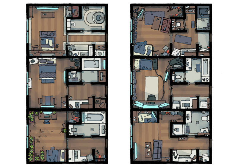 Cyberpunk Apartment battle map - Apartments preview - Modern