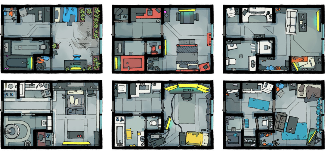 Cyberpunk Apartment battle map - Banner A