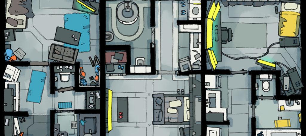 Cyberpunk Apartment battle map - Banner B