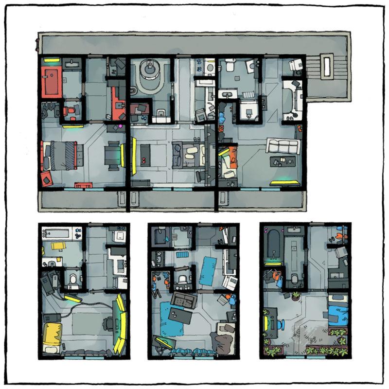 Cyberpunk Apartments battle maps - Square preview