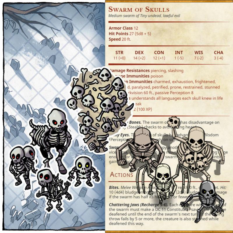 Gal'varen's Legion – Skeleton Variants for D&D 5E – Square preview