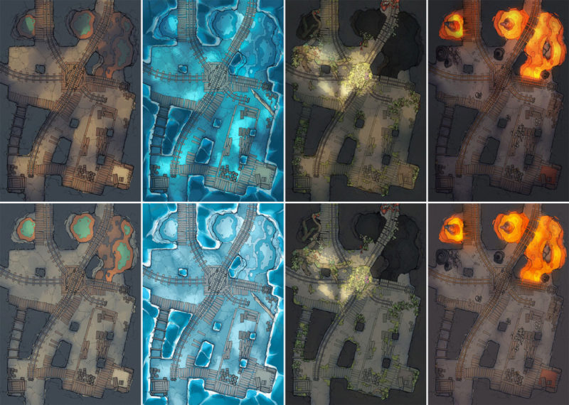 Thermal Mines battle map Pt.1 - Pack preview 2