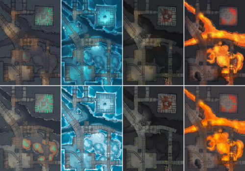 Thermal Mines battle map Pt.2 - Pack preview 2