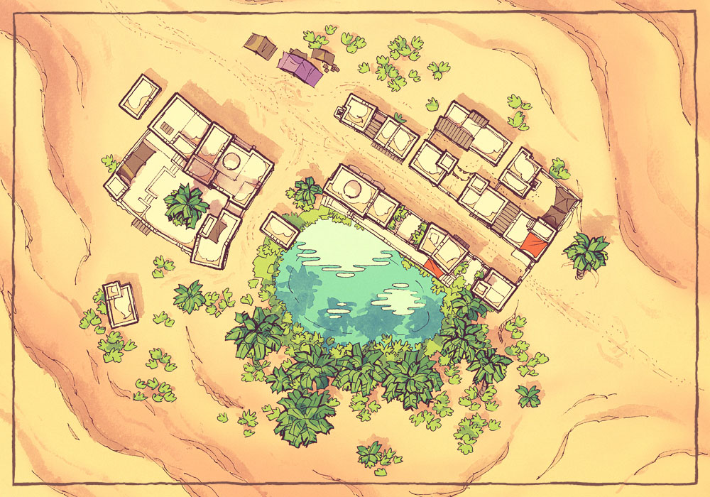 Brightwater Town Map