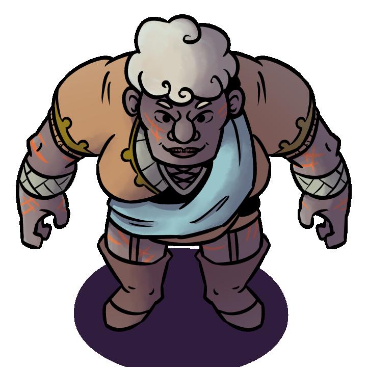 Desert Giant Hunter character token