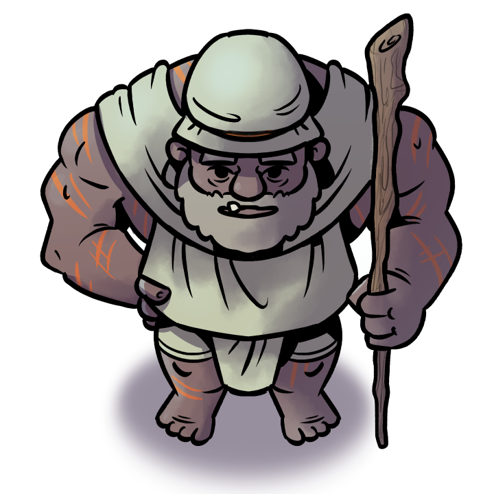 Desert Giant Shaman character token