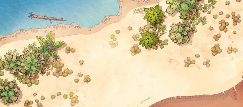 "The Desert Map Assets ""coastline"" map variant"