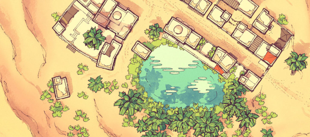 Desert Oasis Town Map - Featured image banner