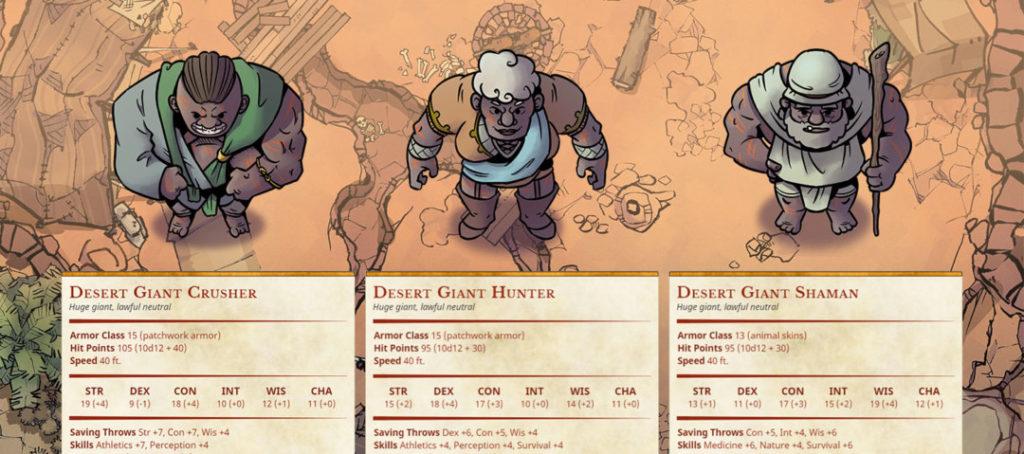 Scorn of the Sands, Part 1 - Hitir Desert Giants - Banner image