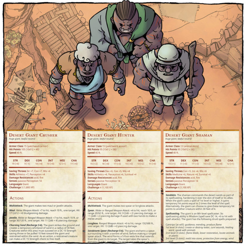 Scorn of the Sands, Part 1 - Hitir Desert Giants - Square preview