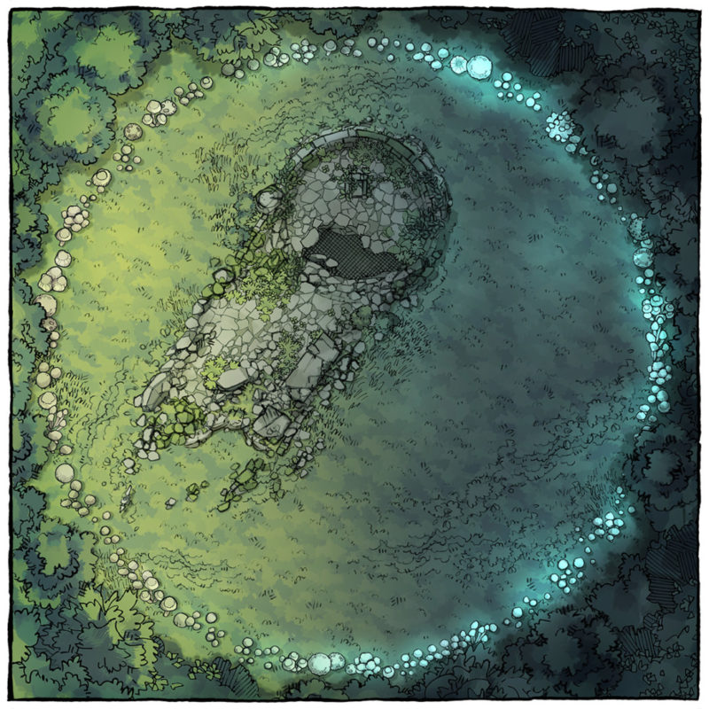 Faerie Circle battle map preview