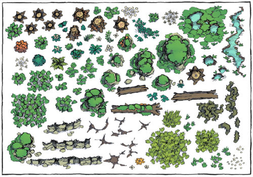 Forest Floor Map Assets - Preview