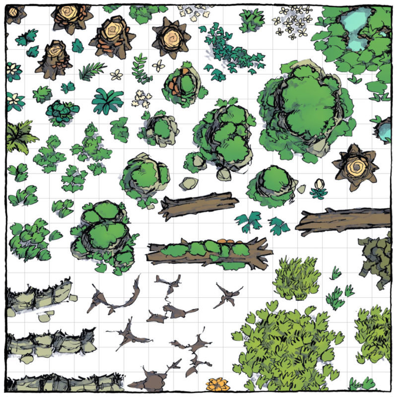 Forest Floor Map Assets - Square Preview - Alt 2