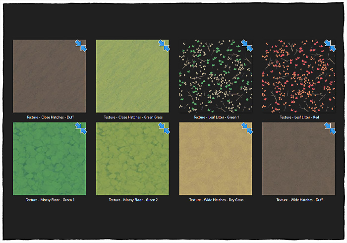 Forest Floor Map Assets - Texture Contents