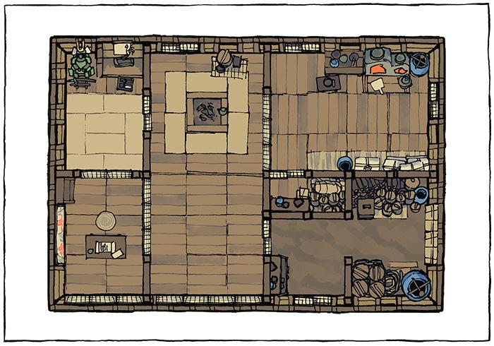 Japanese Building Battle Maps - Larger residence