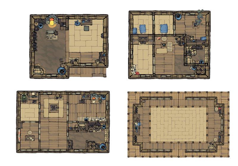 Japanese Building Battle Maps - Preview