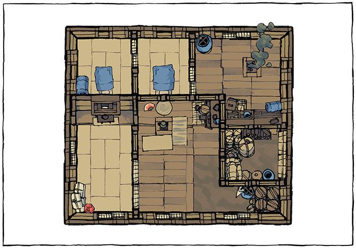 Japanese Building Battle Maps - Smaller residence